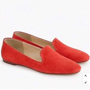 J. Crew Red Leather Smoking Slip On Loafers 9